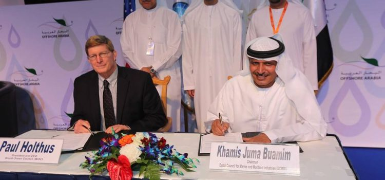 World Ocean Council & DCMMI Sign Partnership Agreement at Offshore Arabia Conference Opening